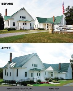 Rempfer Construction, Inc. - Metal Roofing Before & After Construction, Metal Roof, Mansions, House Styles, Home Decor, Building, Decoration Home, Manor Houses, Room Decor