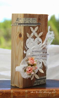 Crafting ideas from Sizzix UK: Wooden block....