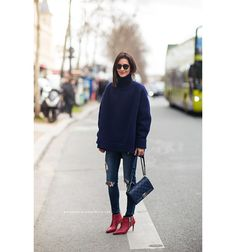 red booties | Stockholm Streetstyle