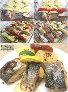 Fırında Levrek Tarifi – Atıştırmalıklar – The Most Practical and Easy Recipes Shellfish Recipes, Meat Recipes, Seafood Recipes, Baked Sea Bass, Baked Fish, Zucchini Ravioli, Food Articles, Fresh Fruits And Vegetables, Turkish Recipes