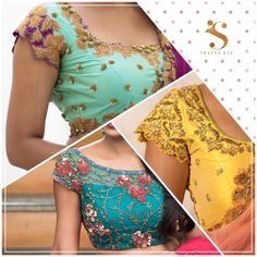 Intricate details from our studio ! What s your favourite ? swapnaraostudio swapnarao blouses detailtherapy 28 August 2016