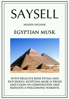 Egyptian Musk Woody 100 Incense Joss Sticks Agarbatti by Saysell #Saysell #Woody