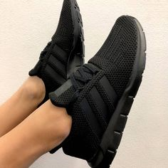 bebeff10bd adidas Originals Swift Run in Black. Stylish all black sneakers for 2018.   Sneakers