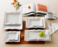 Book-Shaped Dishware | 32 Brilliant Things Every Book Lover Needs In Their Home