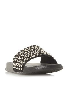 Head Over Heels Luminate Pearl Embellished Slider Shoes - House of Fraser