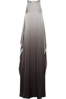 Halston Heritage Ombré satin gown