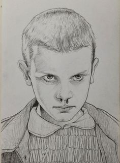 Eleven stranger things, painting & drawing, doodles, pencil drawings, d Stranger Things Halloween, Eleven Stranger Things, Pencil Art Drawings, Art Drawings Sketches, Desenhos Halloween, Celebrity Drawings, Art Sketchbook, Art Inspo, Painting & Drawing