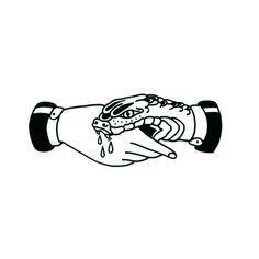 bite trust snake traditional tattoo snake bites trust no one snake tattoo traditional tatto flash Hand Tattoos, Arm Tattoo, Body Art Tattoos, New Tattoos, Tattoos For Guys, Tatoos, Side Tattoos, Chest Tattoo, Flower Tattoos