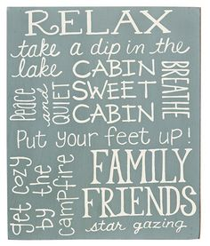"Master Bed $10.89 KP Creek Gifts - *Relax Box Sign 10"" high by 8"" wide."
