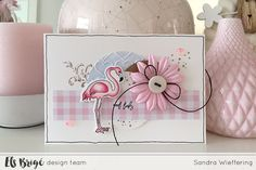 Hoihoi! Vandaag weer een kaartje van mij gemaakt met de Aquarel Flamingo stempel en snijmal set. – Hi there! Today another card from me with…
