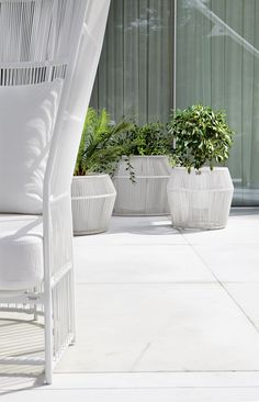 High PVC #planter Loop Collection by @varaschinspa n | #design Nigel Coates #outdoor