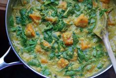 Red Lentil & Sweet Potato Curry with Spinach - Dinner With Julie Dinner With Julie Red Lentil & Sweet Potato Curry with Spinach - Dinner With Julie