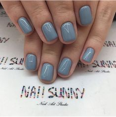 Nail art is a very popular trend these days and every woman you meet seems to have beautiful nails. It used to be that women would just go get a manicure or pedicure to get their nails trimmed and shaped with just a few coats of plain nail polish. Blue Nail Polish, Blue Nails, Grey Gel Nails, Spring Nail Art, Spring Nails, Summer Nails, Spring Nail Colors, Fall Nails, Pretty Nail Colors