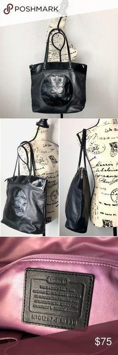 138a0df68c Coach Authentic Black Large Purse Bag Tote Authentic genuine COACH purse!  It s a chic black