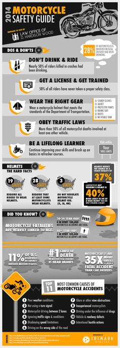 May is Motorcycle Safety Awareness Month! Check out our user-friendly, visual infographic for motorcycle safety tips.  #motorcycles #safety