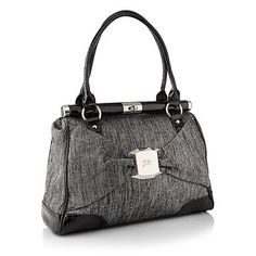 Grey tweed bow front shoulder bag - STAR by Julien Macdonald.  Details here: http://fave.co/QmkxuD