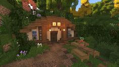 minecraft building ideas Thought I would Try A Small Hobbit Style Tavern : Minecraft Mobs Minecraft, Craft Minecraft, Minecraft Small House, Minecraft World, Casa Medieval Minecraft, Images Minecraft, Minecraft House Plans, Minecraft Structures, Minecraft Cottage