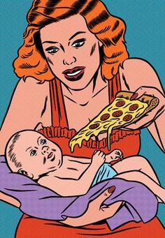 1/1Kindergarten Obesity, for The Las Vegas Weekly. in Illustration / Art