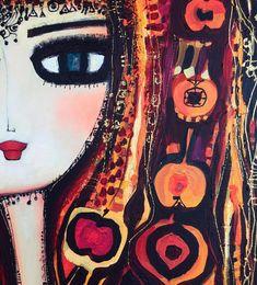 by #cananberber 🖤 Homemade Art, Turkish Art, Naive Art, Belle Epoch, Types Of Art, Doodle Art, Painted Rocks, Folk Art, Art Nouveau
