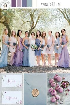 Lavender And Lilac Spring Wedding Inspiration In Shades Of Purple Colors