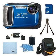 Fujifilm Finepix XP100 14MP CMOS Digital Camera 8 GB Bundle (Blue) - http://www.bestdslrdigitalcamera.com/camera-photo-video/digital-cameras/point-shoot-digital-camera-bundles/fujifilm-finepix-xp100-14mp-cmos-digital-camera-8-gb-bundle-blue-com/