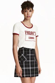 Falda de corte evasé   H&M