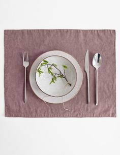 Stonewashed Linen Placemat | Linen Tales on Etsy