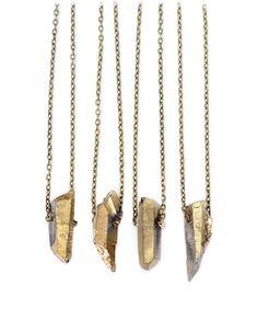 Gold Luxe Bullet Short Pendant Necklace