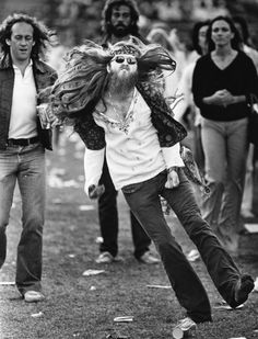 Hippie at The Rolling Stones concert in 1981.