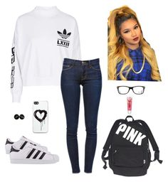 """Boss 1"" by kellexdivet ❤ liked on Polyvore featuring interior, interiors, interior design, home, home decor, interior decorating, adidas, Frame Denim, adidas Originals and Ray-Ban"
