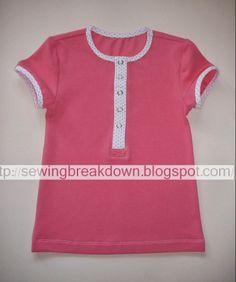 خطوات خياطة قميص بنات - خياطة و تفصيل