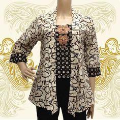 Batik Kebaya, Batik Dress, Blouse Batik Modern, Dress Batik Kombinasi, Model Kebaya, Pakistani Dresses Casual, Batik Fashion, Blouse Models, Formal Looks