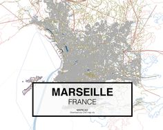Marsella - France. Download CAD Map city in dwg ready to use in Autocad. www.mapacad.com
