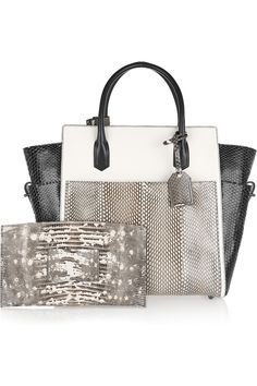Reed Krakoff python and cobra bag with removable lizard clutch. Beautiful.