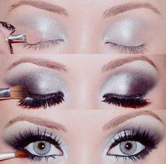 Winter eye Smoky Eye, Beauty Skin, Body Care, Eye Makeup, Makeup Ideas, Smoke, Fashion Beauty, Make Up, Makeup Eyes