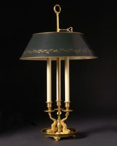 This is my personal favourite style of lamp. The term bouillotte comes from a vying century French gambling card game of the Revolution, based on a game called Brelan, very popular during the century in France and again in. Room Lamp, Desk Lamp, Table Lamps, Light Table, Lamp Light, Chandelier, French Country Decorating, Vintage Table, Light Fixtures
