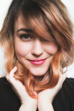 How to get rose gold hair color on dark brown locks. #hair  #pastel …