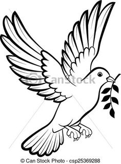 40 Ideas dove bird logo design for 2019 Bird Drawings, Art Drawings Sketches, Animal Drawings, Easy Drawings, Sketches Of Birds, Dove Sketches, Vogel Silhouette, Bird Silhouette Art, Bird Outline