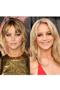Jennifer Lawrence has an upswept dirty blonde 'do at the Los Angeles premiere of The Hunger Games on March 12, 2012. A year earlier, the Winter's Bone star was a blonde bombshell at the 83rd Annual Academy Awards on Feb. 27, 2011.