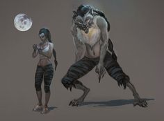 Werewolf female by oakenvial.deviantart.com on @DeviantArt