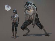 Werewolf female by oakenvial.deviantart.com on @DeviantArt