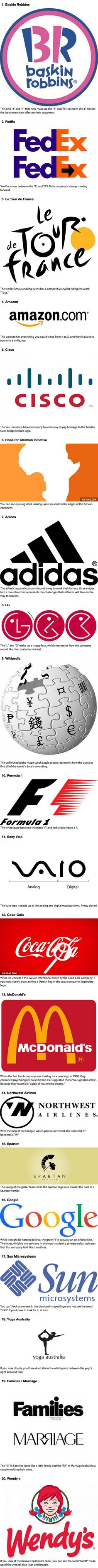 Promotional logos with hidden meanings