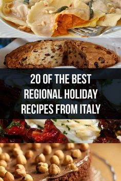 From pasta to desserts, travel Italy via 20 of the best regional holiday recipes. For Christmas or Easter, or for any other festivity. Christmas In Italy, Italian Christmas, Italian Foods, Italian Recipes, Christmas Recipes, Holiday Recipes, Italian Breakfast, Italy Food, World Recipes