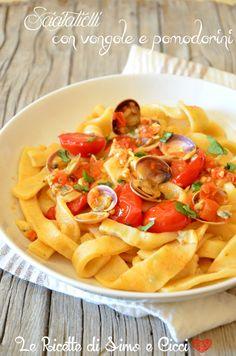 Scialatielli con vongole e pomodorini | Le Ricette di Simo e Cicci