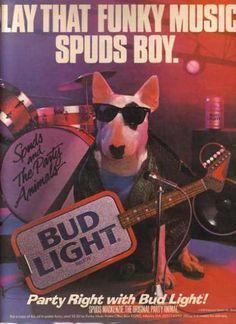 Bud light spuds mckenzie commercials my memories tv pinterest spuds mckenzie never gets old aloadofball Choice Image