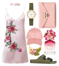"""Pink Inc."" by flowersfordinner on Polyvore featuring WithChic, Birkenstock, Marc Jacobs, Skagen and Armitage Avenue"