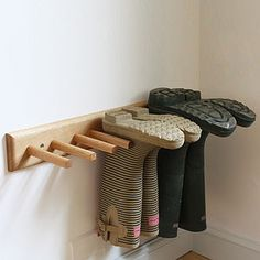 Oak Welly Rack - storage