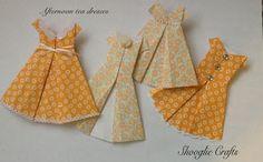 Shooglie Crafts - Origami dresses