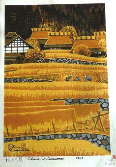 Ohara in Autumn, by Shiro, Kasamatsu, 1963