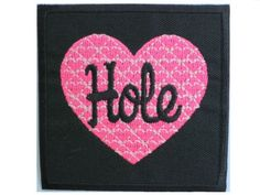 """HOLE Heart Grunge Rock Band Logo Shirt jacket Patch Sew Iron on Embroidered Sign Badge Approx: 2.9""""/7.4cm x Approx: 2.9""""/7.4cm By MNC Shop music patch By MNC Shop"""